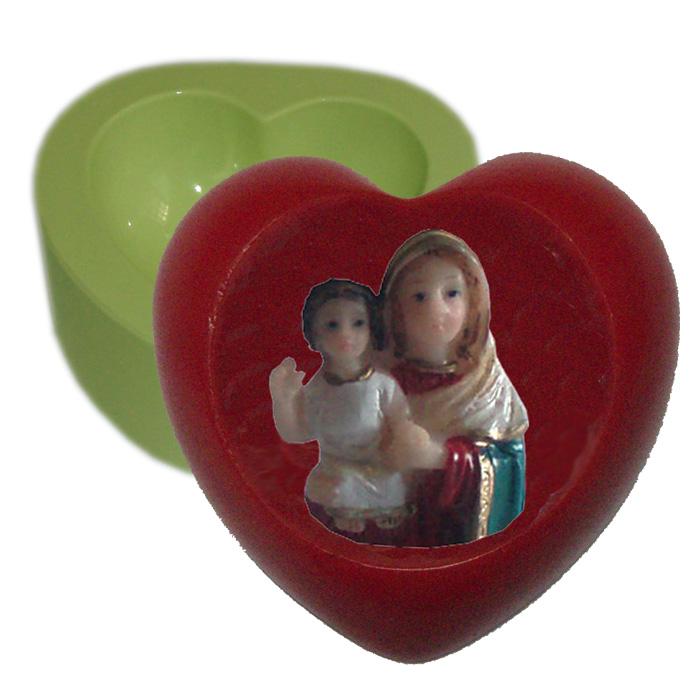 Molde Coração Mãe e Filho