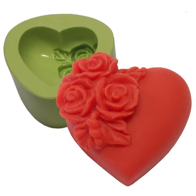 Molde Coração Pequeno com Flores