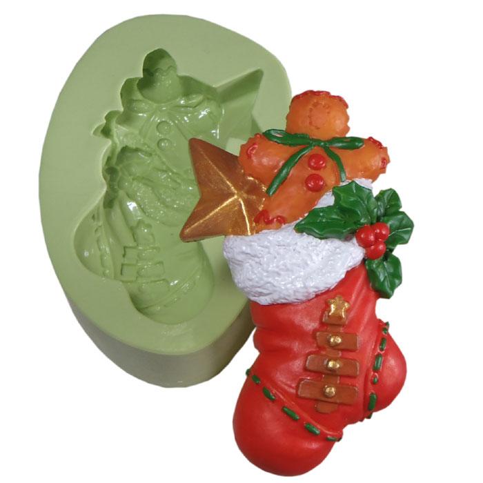 Molde Meia de Natal com Presentes