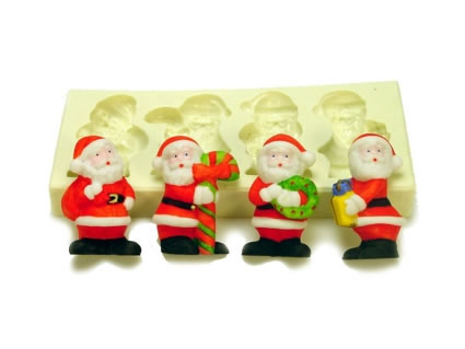 Molde Papai Noel 4 cav.