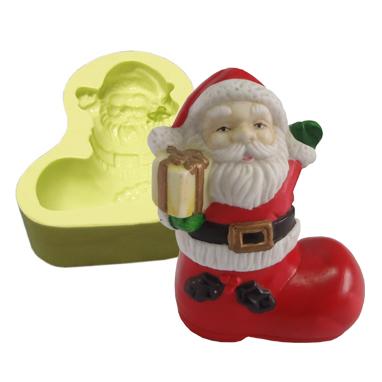 Molde Papai Noel na Bota