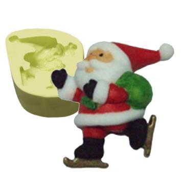 Molde Papai Noel Patinando
