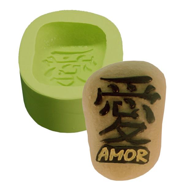 Molde Pedra Amor Kanji