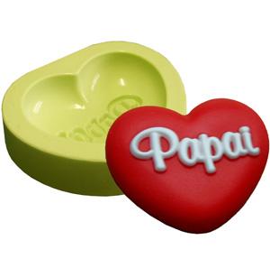 Molde Coração Papai