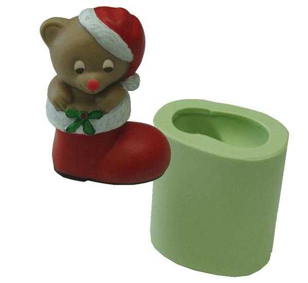 Molde Ursinho Noel Bota