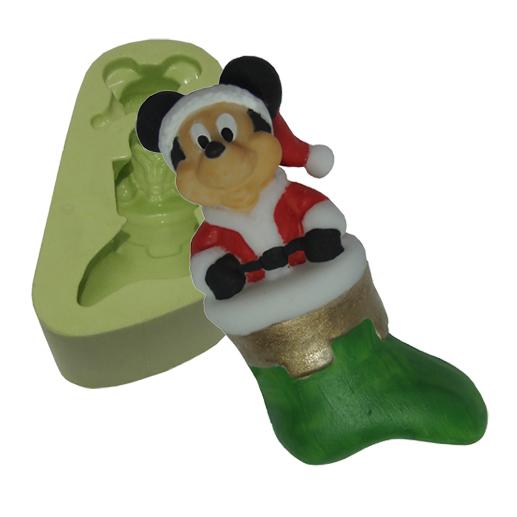 Molde Mouse Noel na Meia