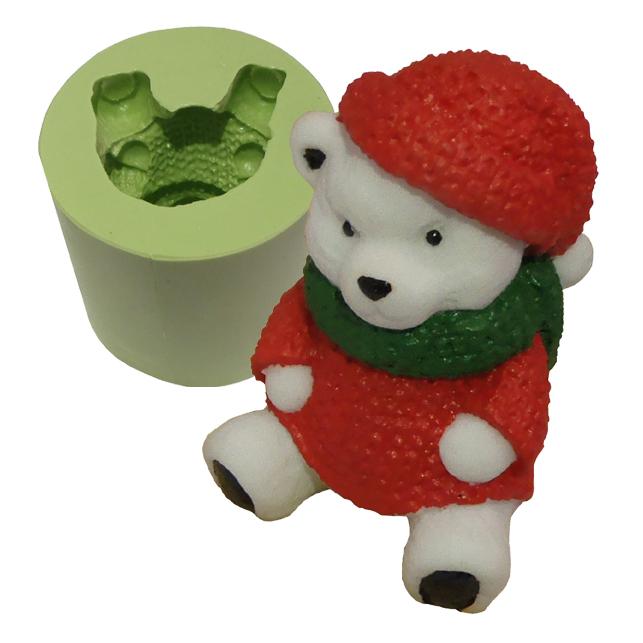 Molde Urso Polar com Gorro