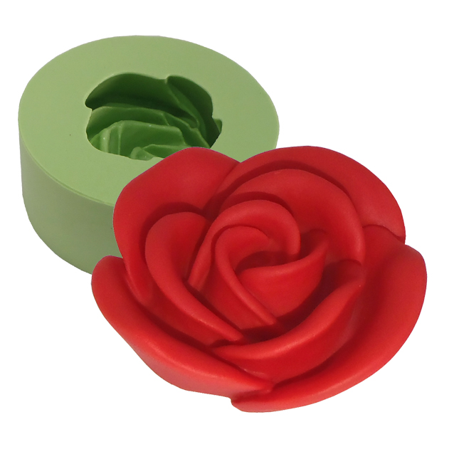 Molde Rosa Desabrochando