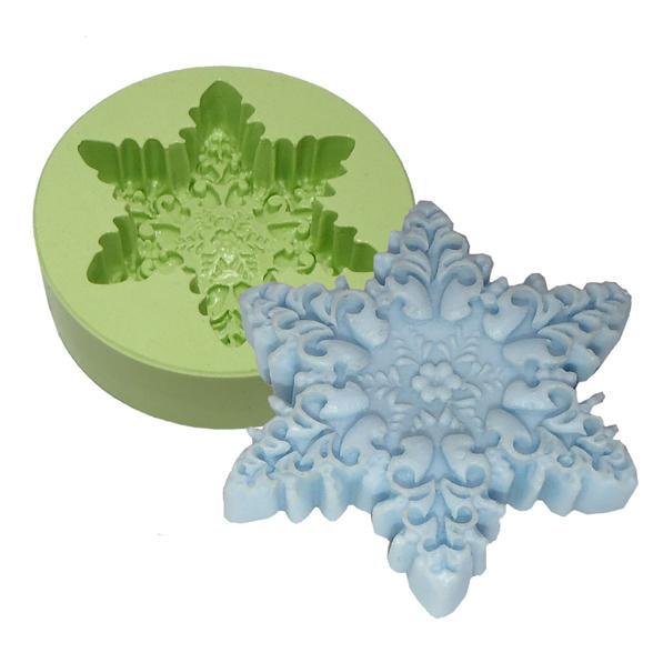 Molde Floco de Neve Florido